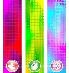 three abstract banner vector image vector image