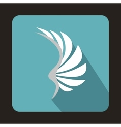 White wing icon in flat style vector image vector image