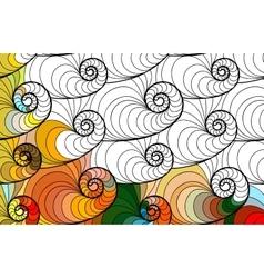 abstract seamless fantasy pattern hand vector image vector image