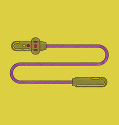 flat shading style icon jump rope vector image vector image