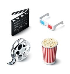 Cinema Realistic Set vector image