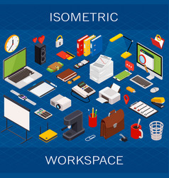 flat 3d isometric computerized technology vector image vector image