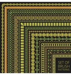 Luxury Pattern Brushes Set vector image