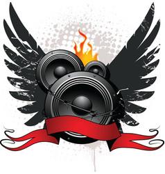 wings speakers vector image vector image