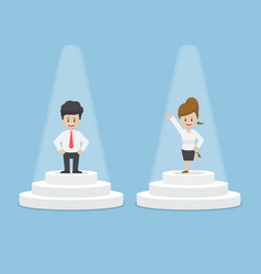 businessman and businesswoman standing and vector image vector image