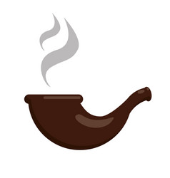 smoking pipe flat vector image vector image