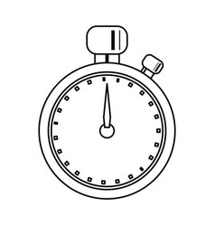 stopwatch chronometer sport equipment outline vector image