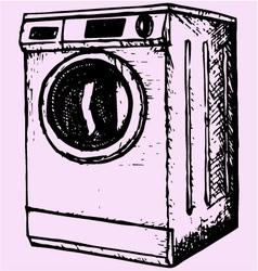washing machine vector image vector image