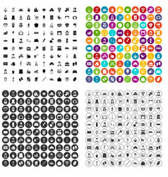 100 housewife icons set variant vector