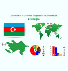 19 azerbaijan all countries of the world vector image