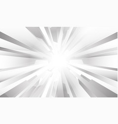 Abstract white grey geometric zoom design modern vector