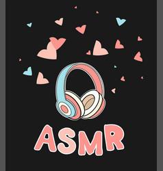 Asmr headphones isolated logo icon vector