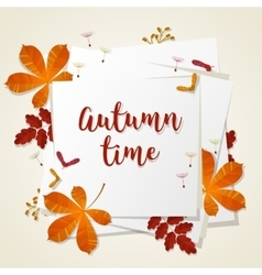 Autumn typographic Fall leaf vector