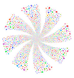 Baht fireworks swirl flower vector