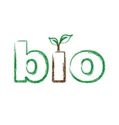 Bio logo sketched vector image