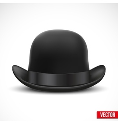 Black bowler hat on a white background vector image
