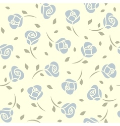 Blue roses seamless pattern vector image