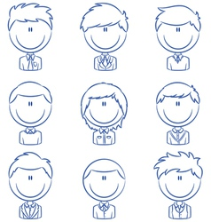 Business male avatar vector image