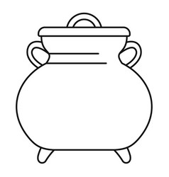 Cauldron kettle icon outline style vector
