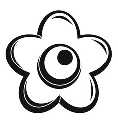 Choco flower icon simple style vector