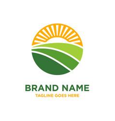 circular agriculture logo design vector image