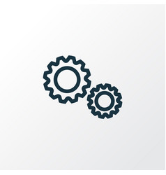 cogwheel outline symbol premium quality isolated vector image