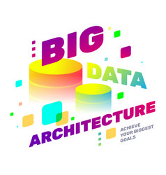 creative of multicolor big data architecture vector image