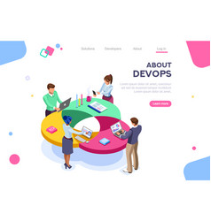 Devops programmer concept vector