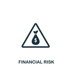 financial risk icon creative element design from vector image
