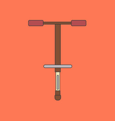 Flat icon on background kids toy pogo stick vector