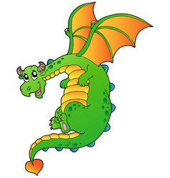 flying fairy tale dragon vector image