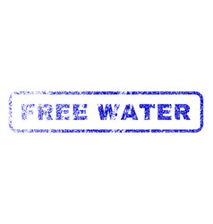 Free water rubber stamp vector