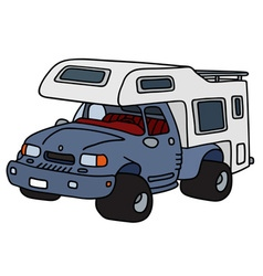 Funny terrain caravan vector image