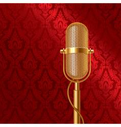 golden microphone vector image