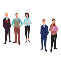Group of office workers employees managers vector