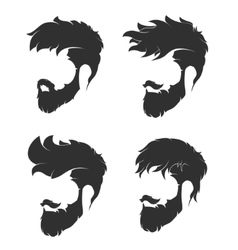 Hairstyle with a beard and mustache vector
