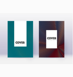 Hipster cover design template set red abstract li vector