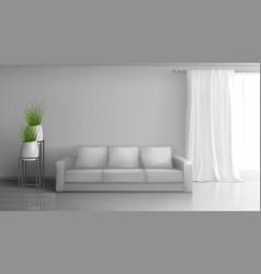 Home living room interior realistic mock vector