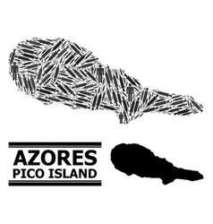 Inoculation mosaic map pico island vector