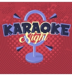 Karaoke Night Image vector