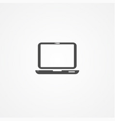 laptop icon sign symbol vector image