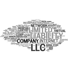 llc word cloud concept vector image