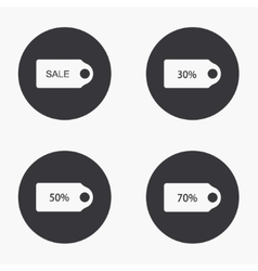 modern sale icons set vector image
