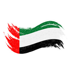 national flag of united arab emirates designed vector image