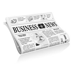 Newspaper Business News vector