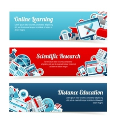 Online Education Banners vector