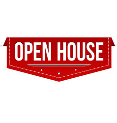 Open house banner design vector