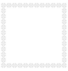 ornamental square border in white with outlines vector image