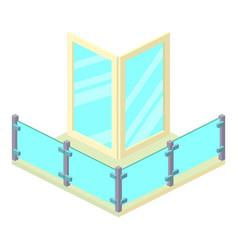 Penthouse balcony icon isometric 3d style vector