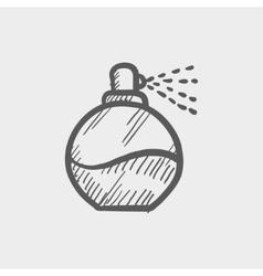 Perfume sketch icon vector image